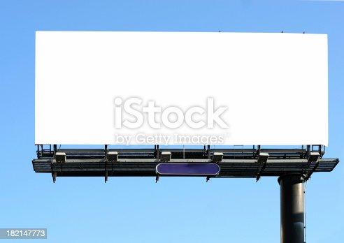 istock billboard on blue 182147773