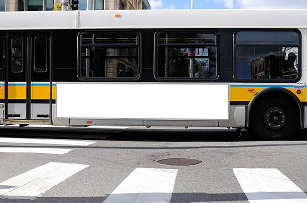 Billboard on Bus Side stock photo