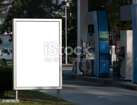 istock Billboard on gas station 519575575