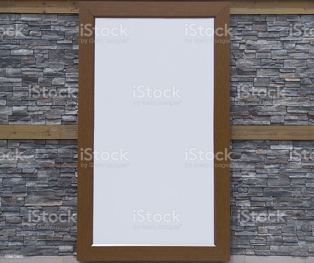 billboard on the wall royalty-free stock photo