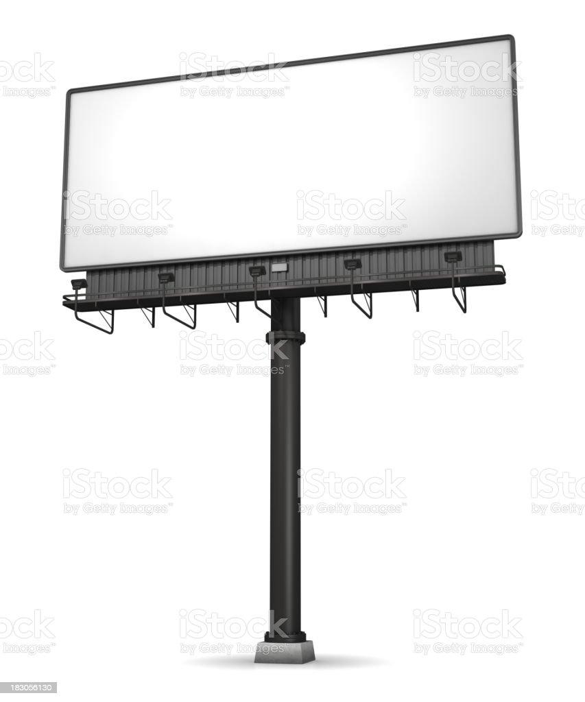 Billboard On White stock photo