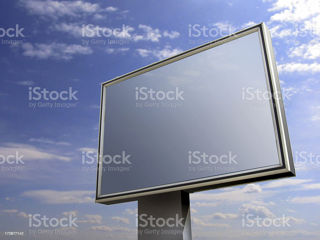 billboard ( +clipping path) royalty-free stock photo