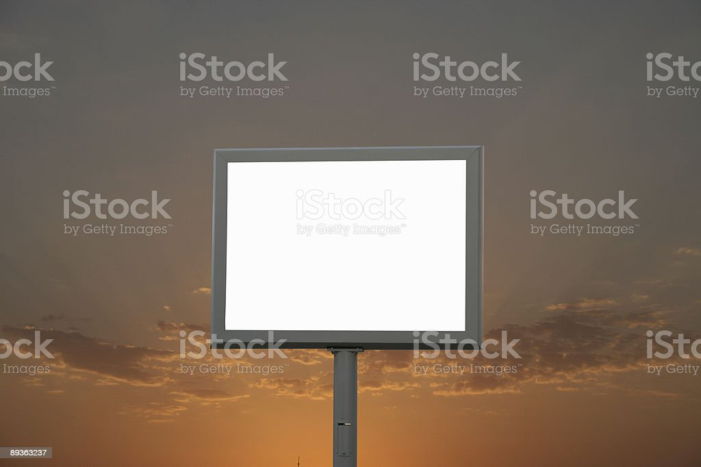 Tabellone foto stock royalty-free