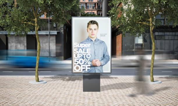 Plakatverkaufswerbung Mockup – Foto