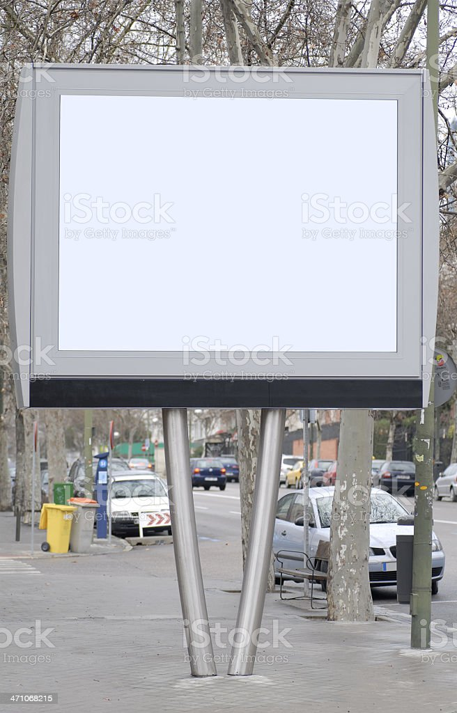 Billboard series royalty-free stock photo