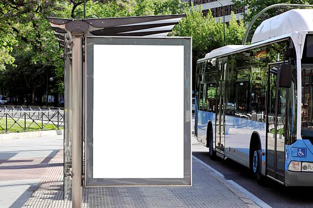 billboard series - bushalte stockfoto's en -beelden