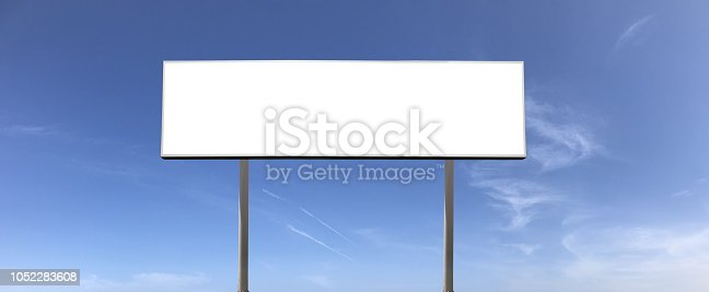 Billboard sign against sky panorama