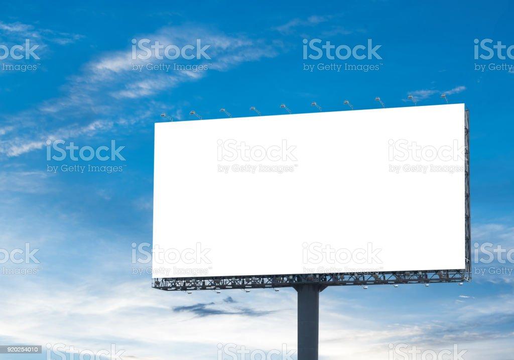 billboard sky stock photo