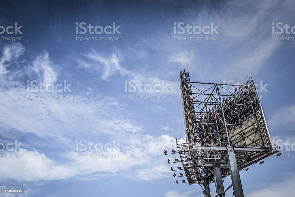 Billboard structure royalty-free stock photo