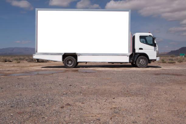 Billboard truck stock photo