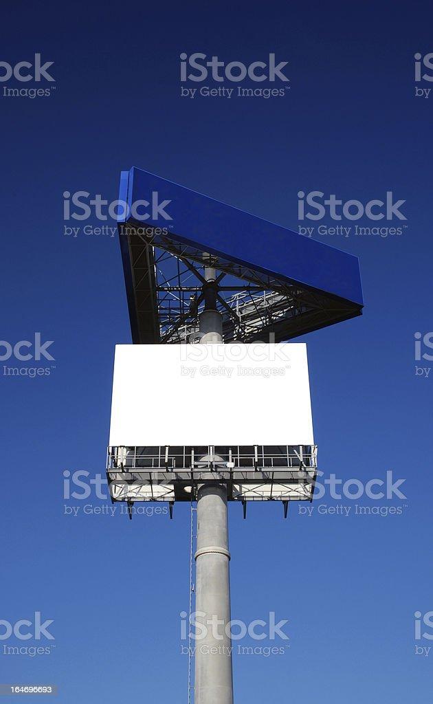 Billboard under clear sky royalty-free stock photo