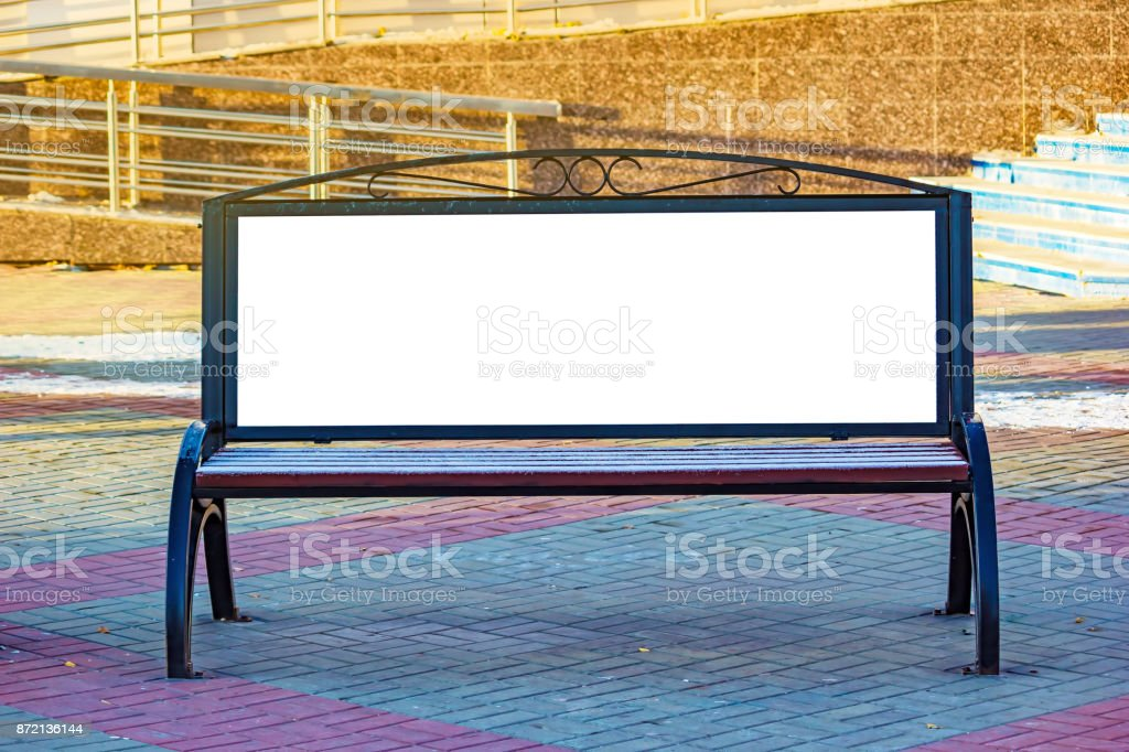 Billboard with blank white copy space for text message or content, mock up banner stock photo