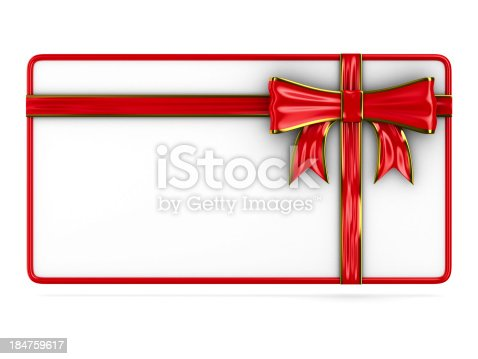istock billboard with bow on white. Isolated 3D image 184759617