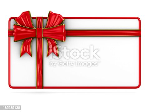 istock billboard with bow on white. Isolated 3D image 185935136