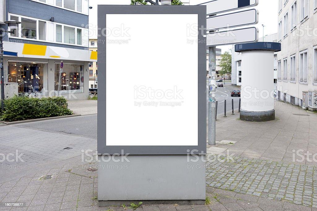 Panneau d'affichage avec un Tracé de détourage - Photo