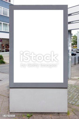 istock Billboard With Clipping Path 180753938