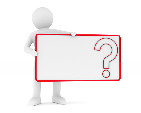 istock billboard with question on white background. Isolated 3D image 650338098