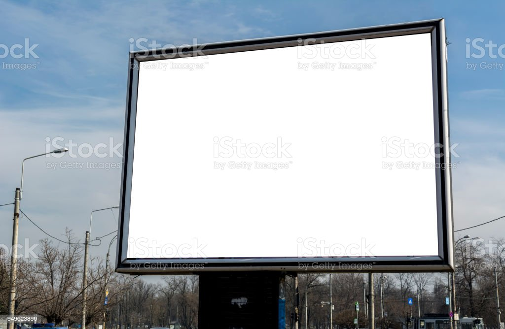 Billboard with white space for streets advertising Blank advertising...