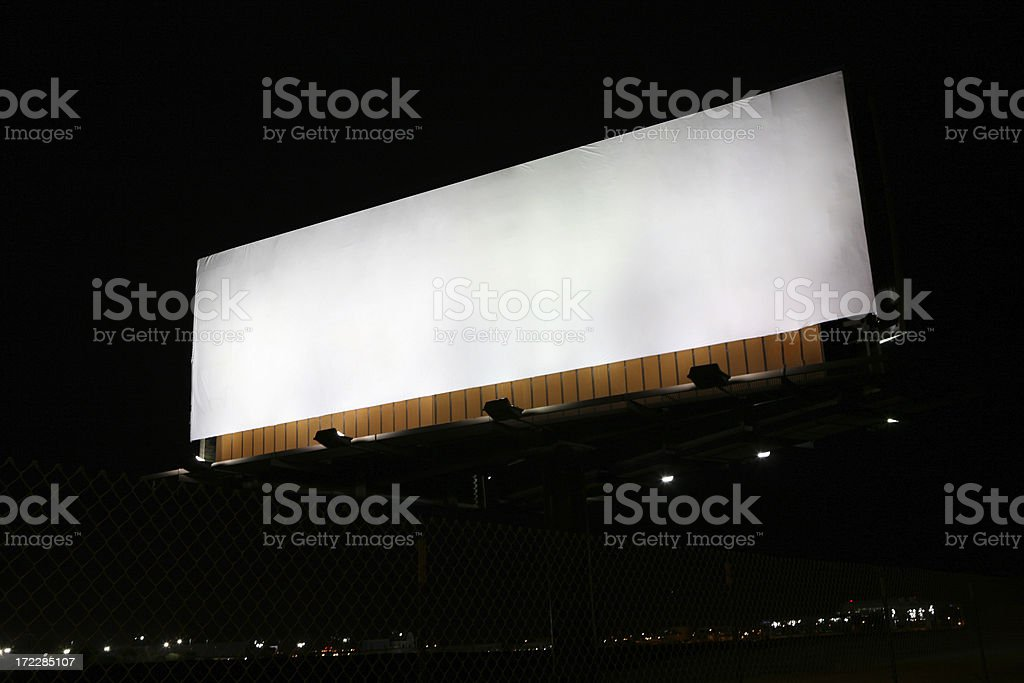 Billboard XXLarge Blank royalty-free stock photo