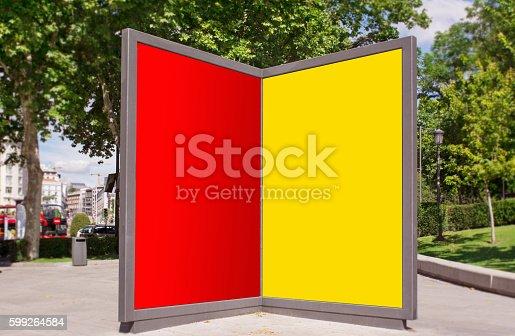 istock billboards at city street 599264584
