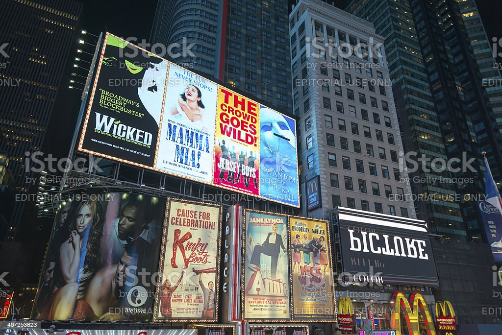 Billboards at Times Square Manhattan royalty-free stock photo