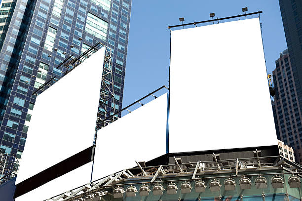 billboards - times square stock photos and pictures