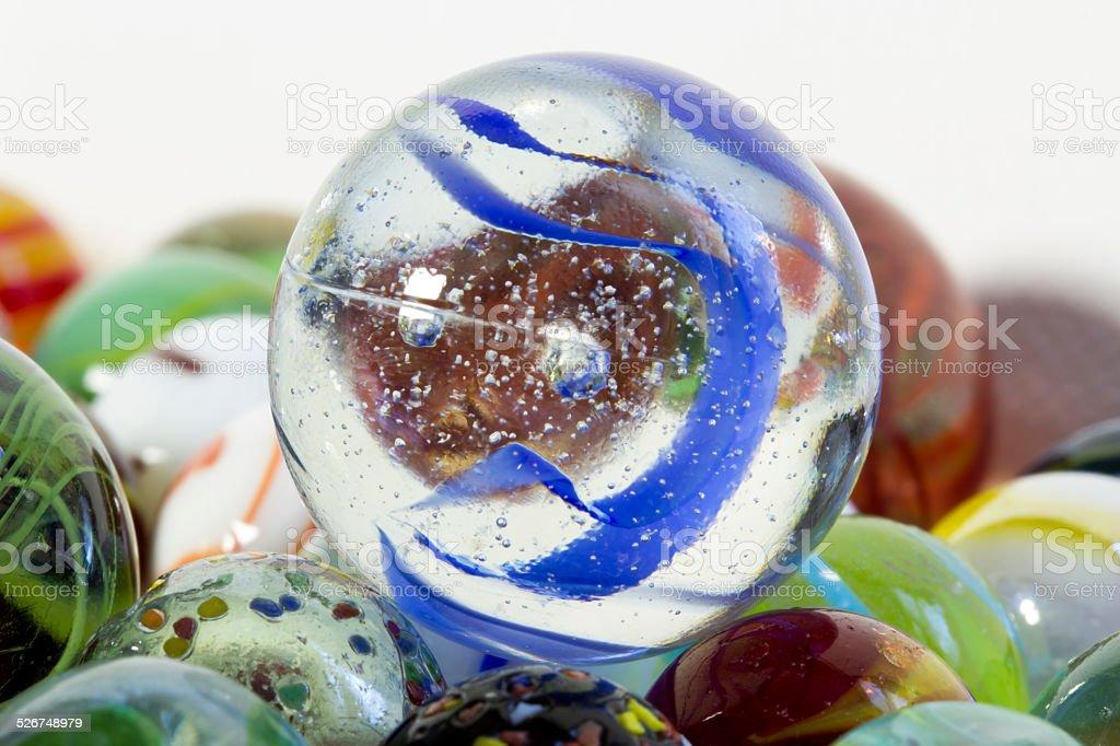 Billes de verres colorées stock photo