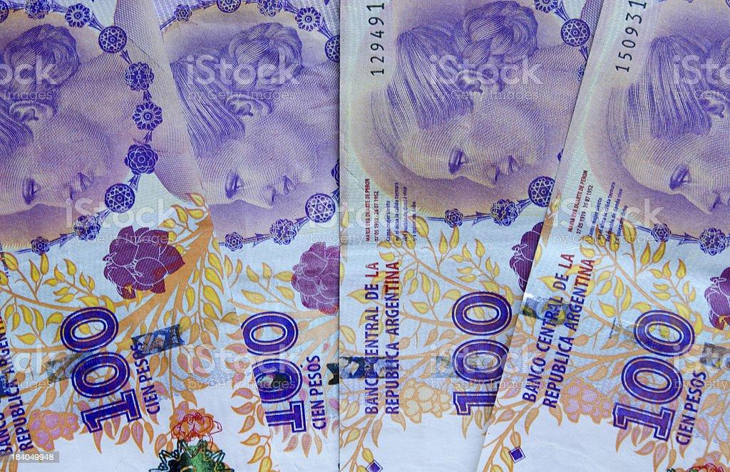 Billete Argentino stock photo
