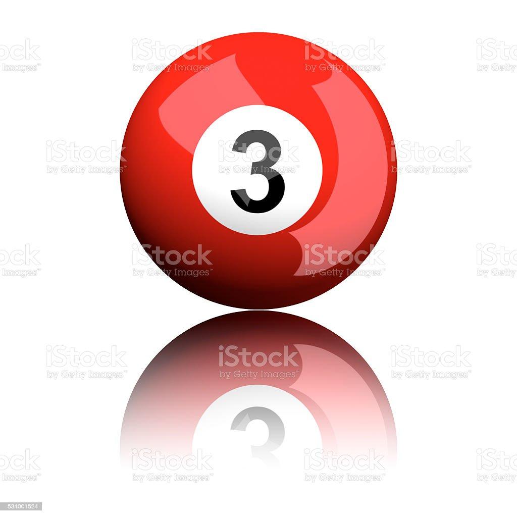Bola de billar número de 3 dígitos imagen - foto de stock
