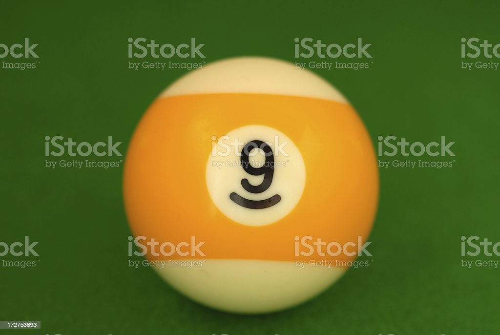Billiard ball on cloth royalty-free stock photo