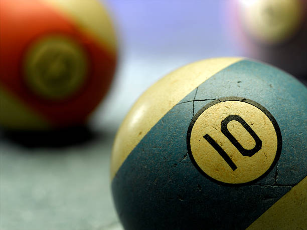 billiard ball - number 10 stock photos and pictures