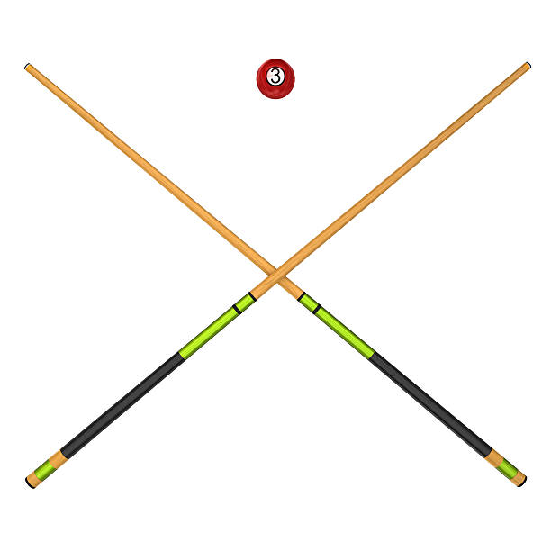 billiard balls and cues - pool cue stock photos and pictures