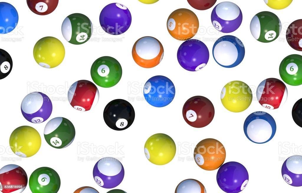 Fondo bolas de billar - foto de stock