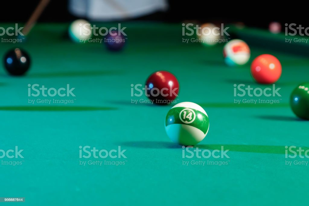 Billiard Balls On The Billiard Table American Billiards Sports Games - Us billiards pool table