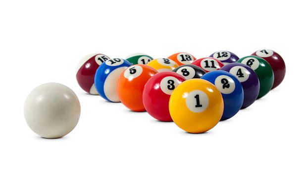billiard balls - cue ball stock pictures, royalty-free photos & images