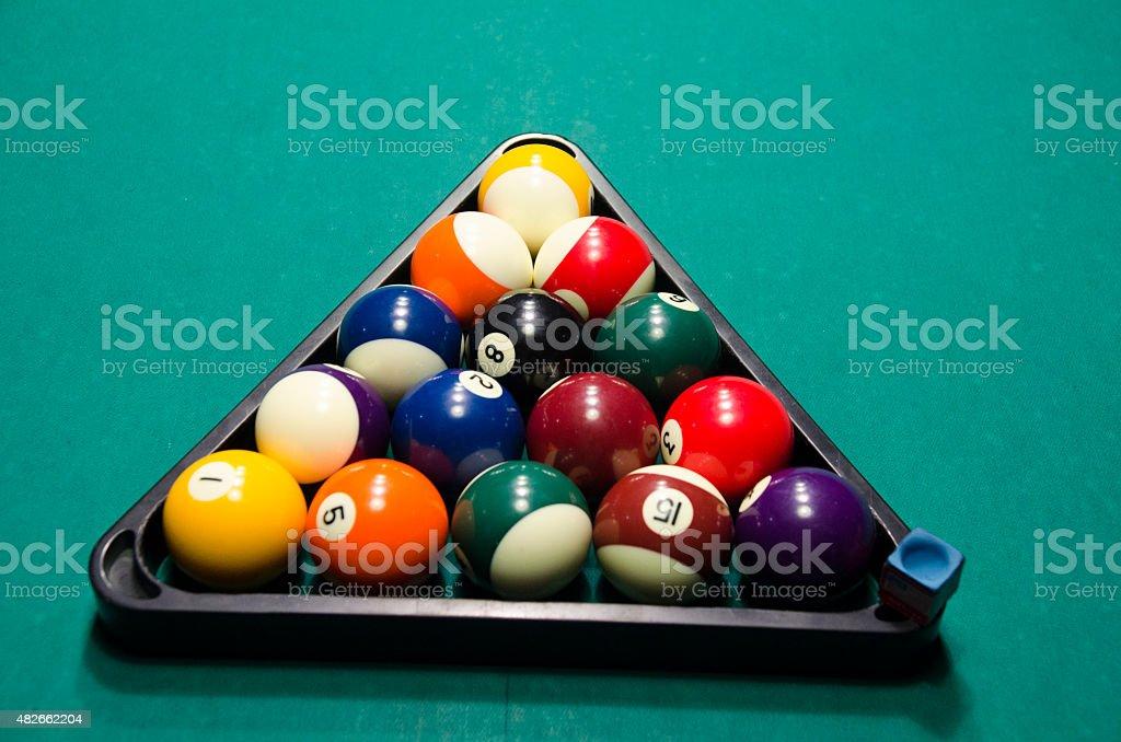 Bolas de Bilhar - fotografia de stock
