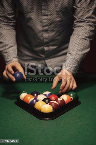 istock Billiard balls 679784530