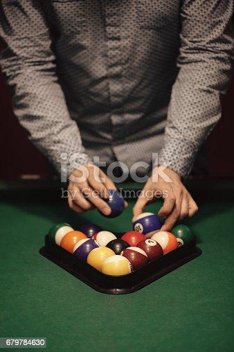 istock Billiard balls 679784630