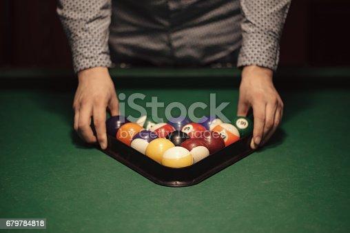 istock Billiard balls 679784818