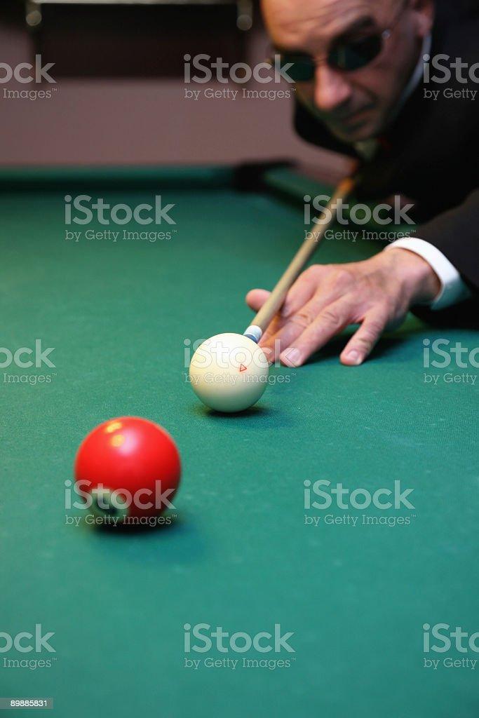 Billiard game detail royalty-free stock photo