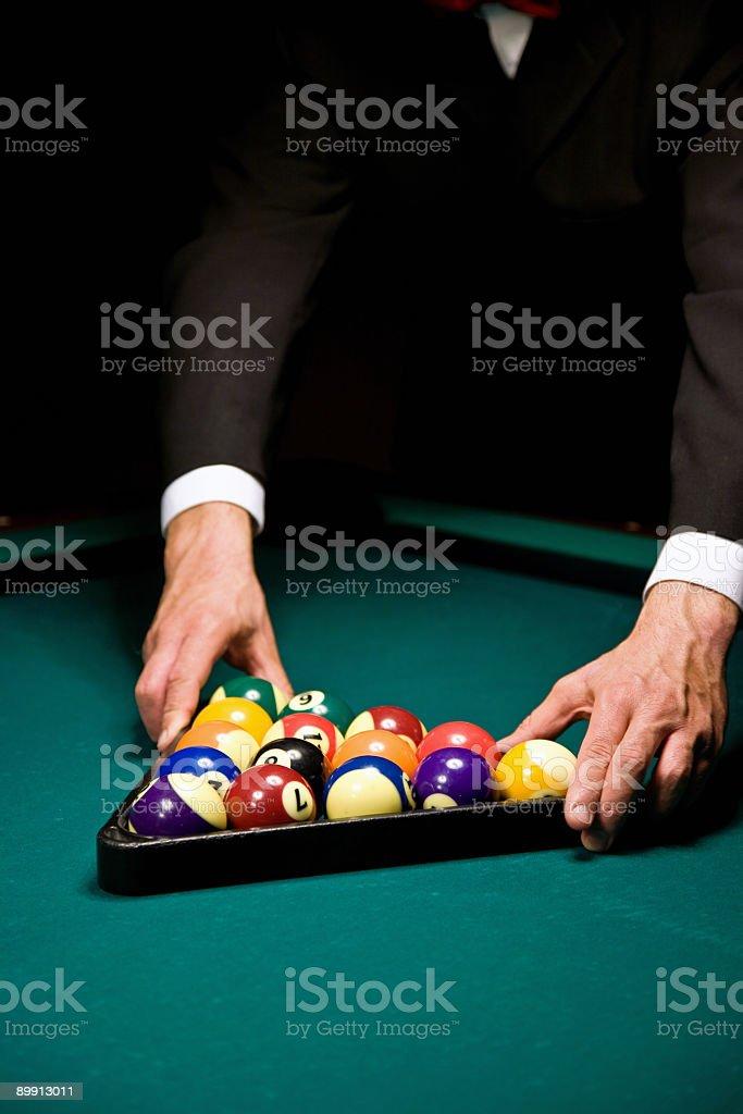 Billiard игра отделкой Стоковые фото Стоковая фотография