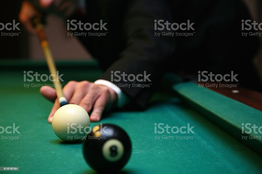 Billiard game detail-Rijeka-Croatia