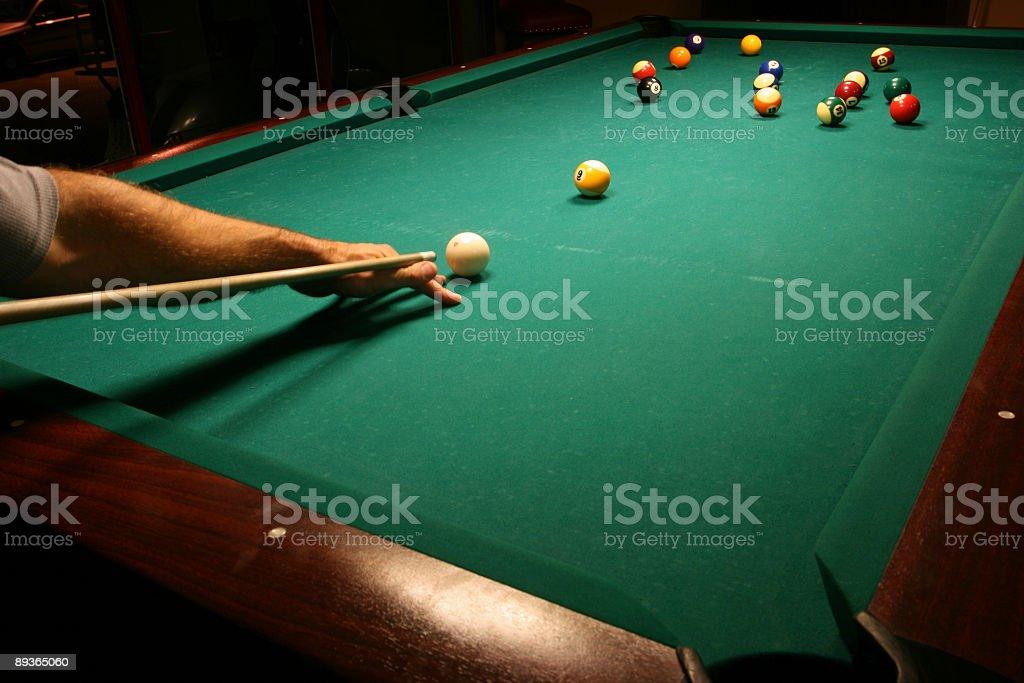 Billiard game details royalty free stockfoto