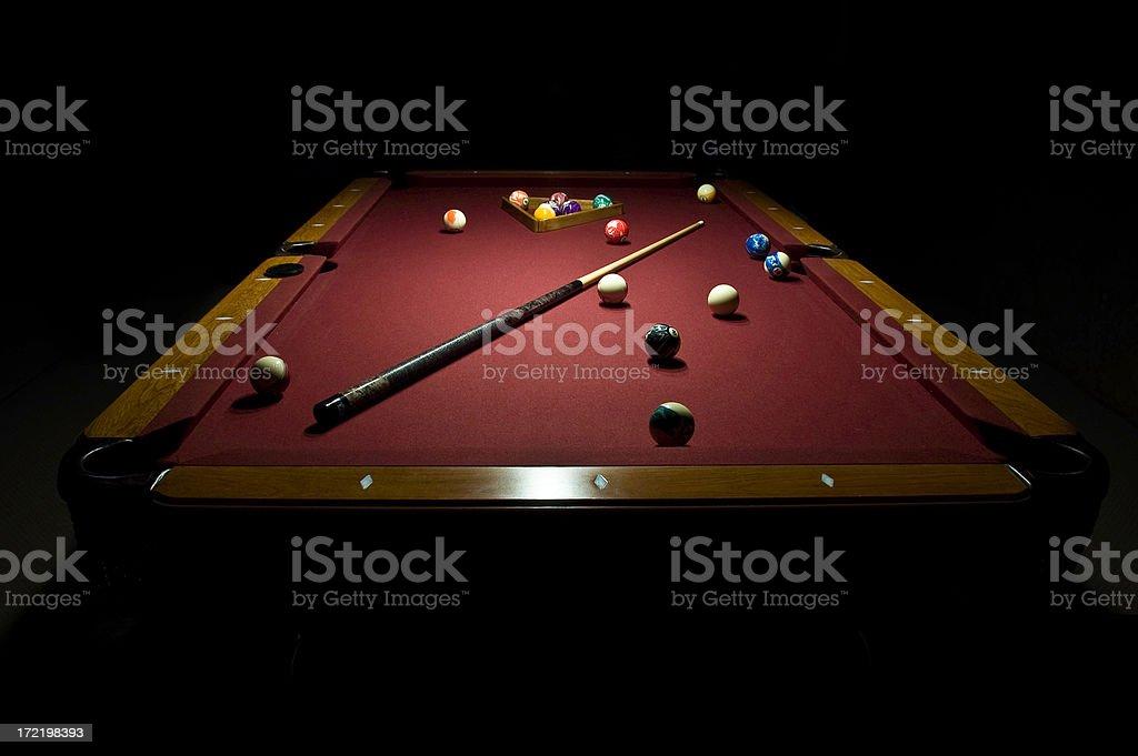 Billiard in the Dark stock photo