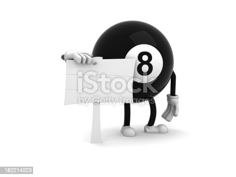 Billiard with blank sign