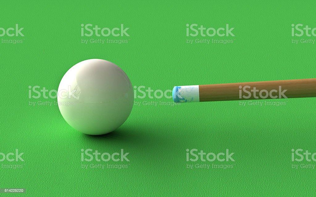Billiard stock photo