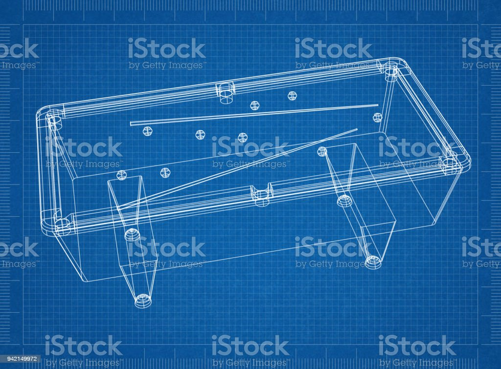 Billiard Pool Table 3d Blueprint Stock Photo - Download ... on tv schematics, pool tool ball ghost, pool hole sizes, whirlpool schematics, computer schematics, elevator schematics, pinball schematics, pool drawing, stereo schematics, air hockey schematics,