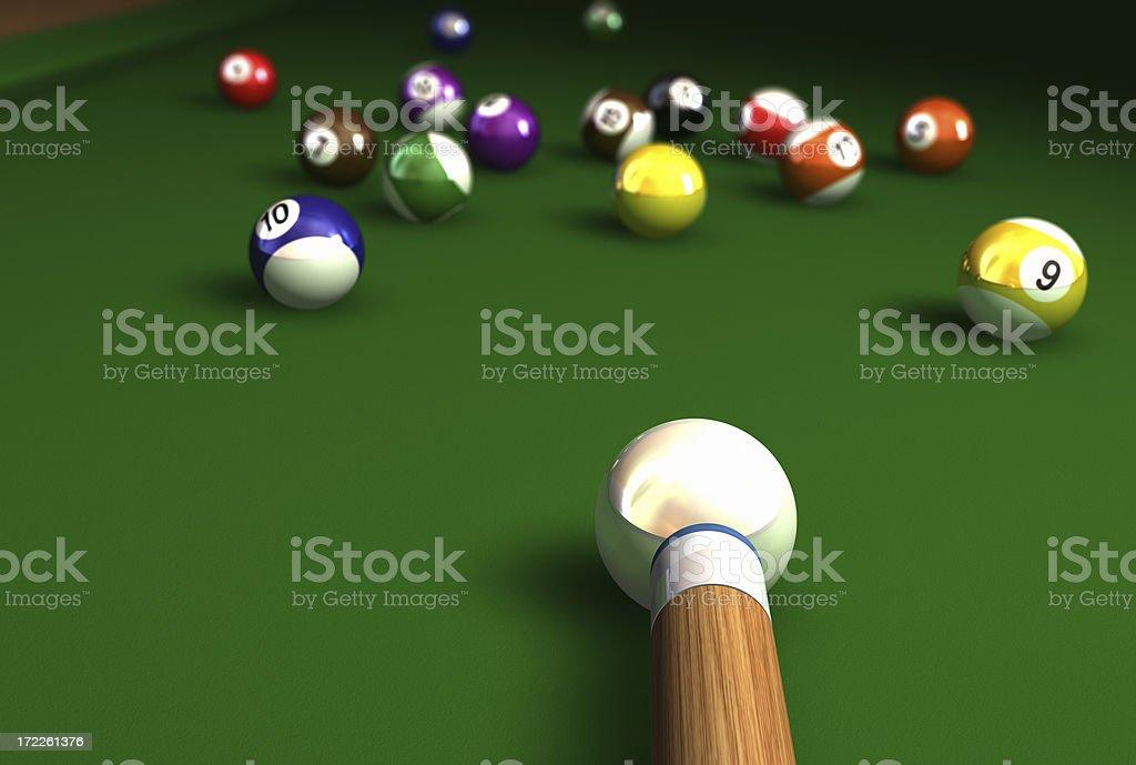Billiard shot stock photo
