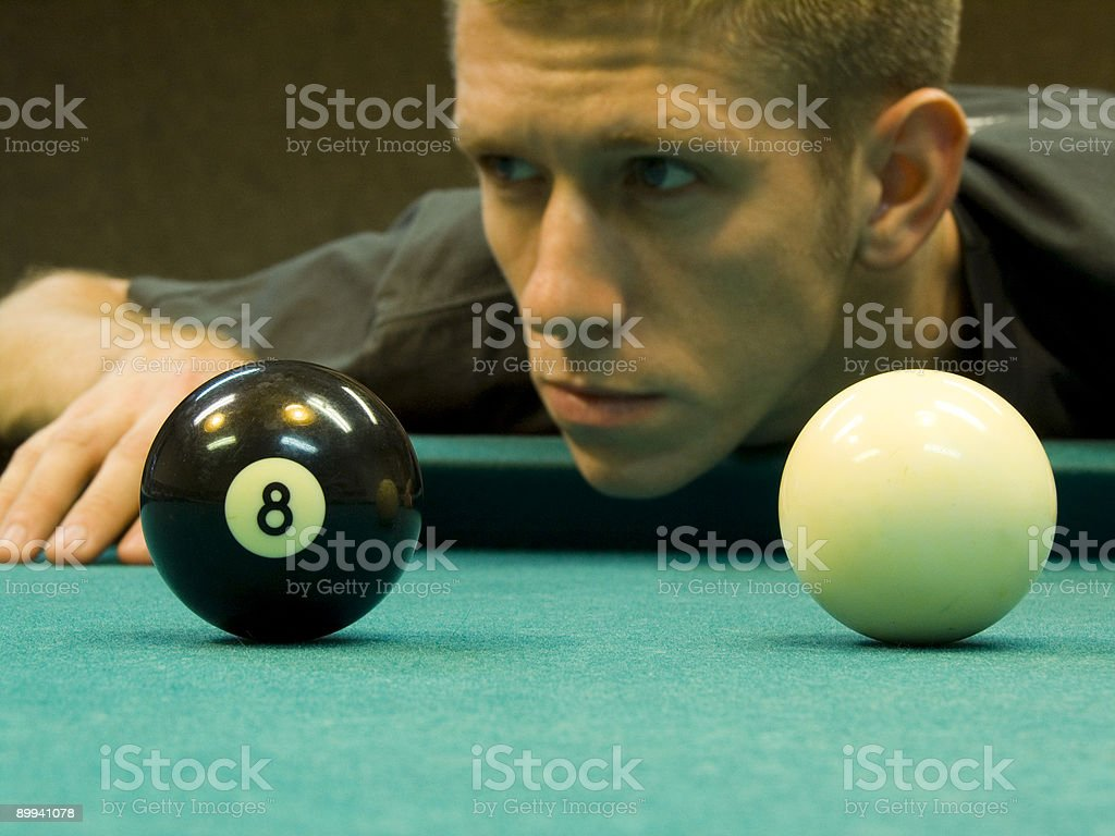 billiard thoughts royalty-free stock photo