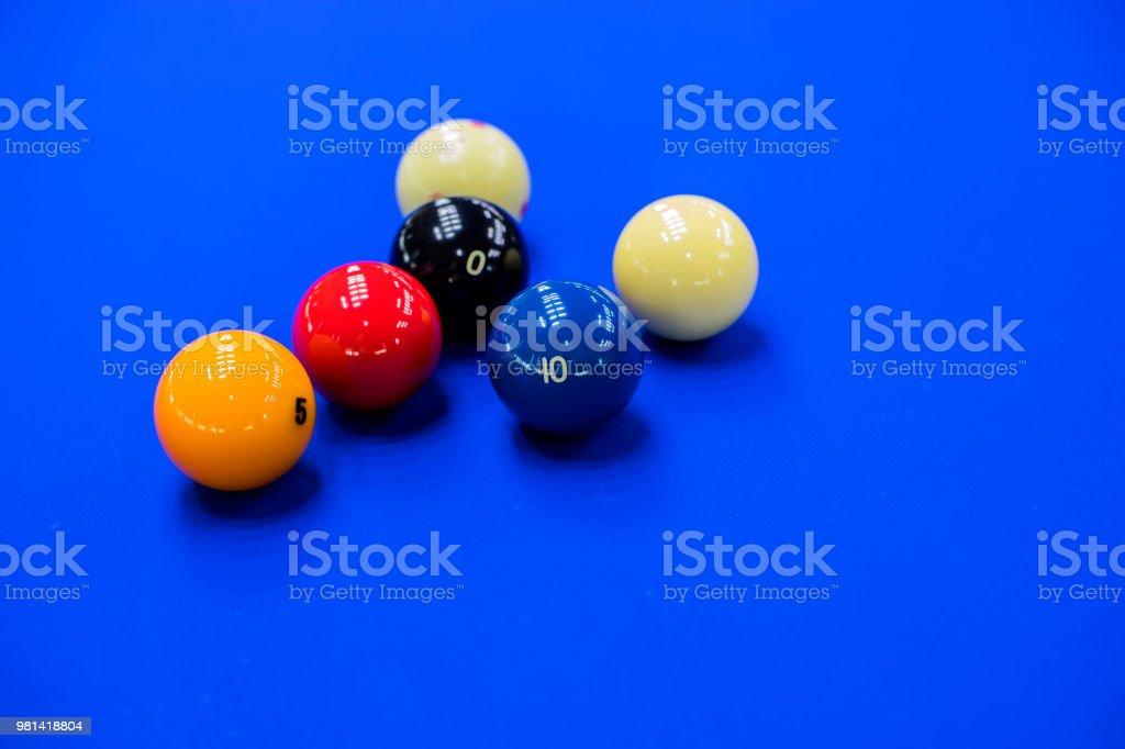 당구, 당구 테이블입니다. 당구 테이블에 공입니다. 스톡 사진